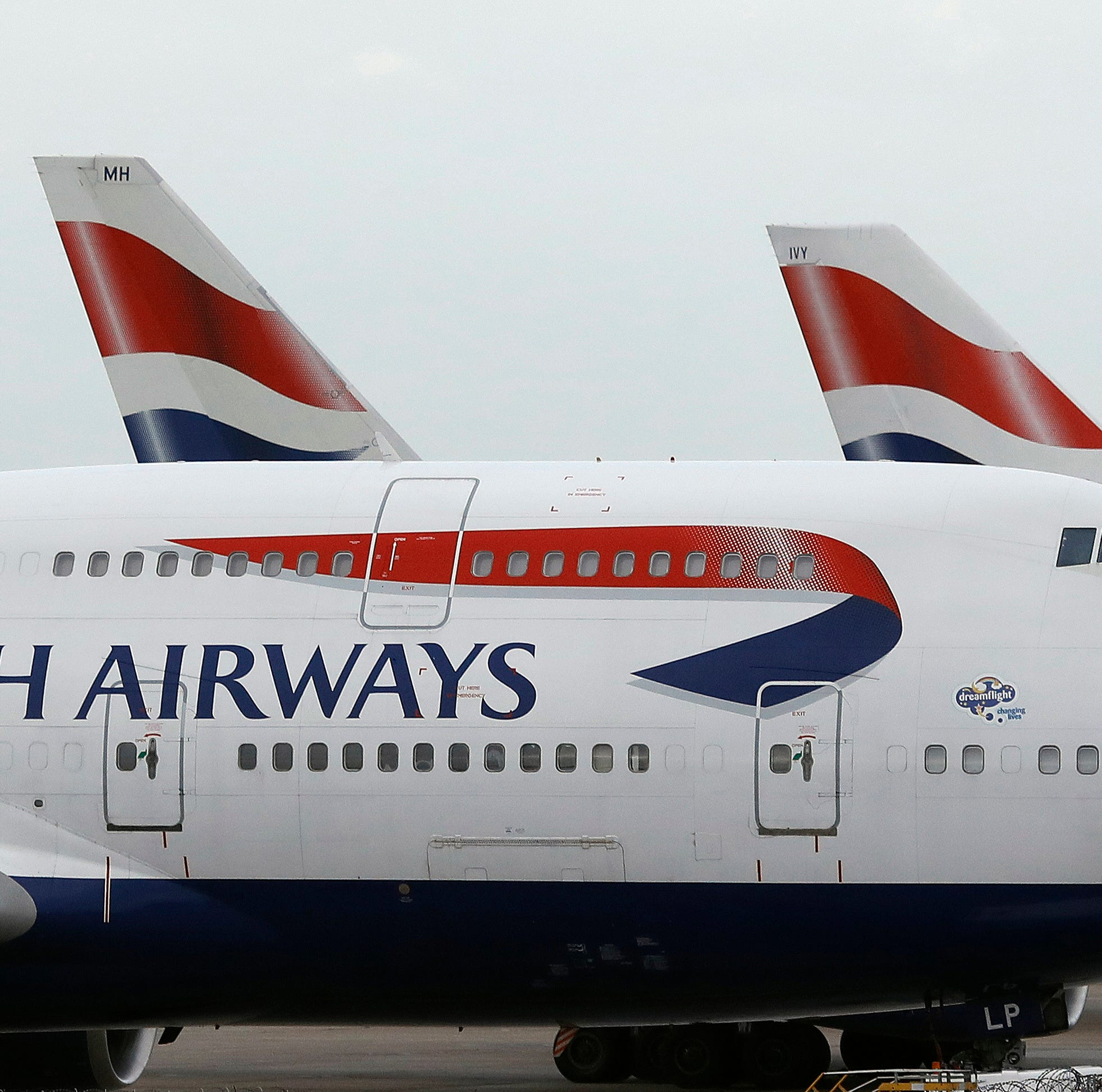 FILE - In this Jan. 10, 2017 file photo, British Airways planes are parked at Heathrow Airport in London. ??British Airways will resume flights to Pakistan in June 2019, a decade after it suspended operations following bombing on the Marriott Hotel in Islamabad that killed dozens, an official of British Airways said in a statement, Tuesday Dec. 18. 2018. (AP Photo/Frank Augstein, File) ORG XMIT: ISL101