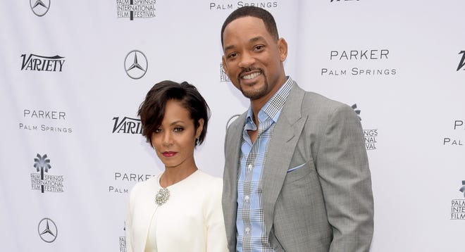 Jada Pinkett Smith and Will Smith at an event during the Palm Springs International Film Festival on Jan. 3, 2016