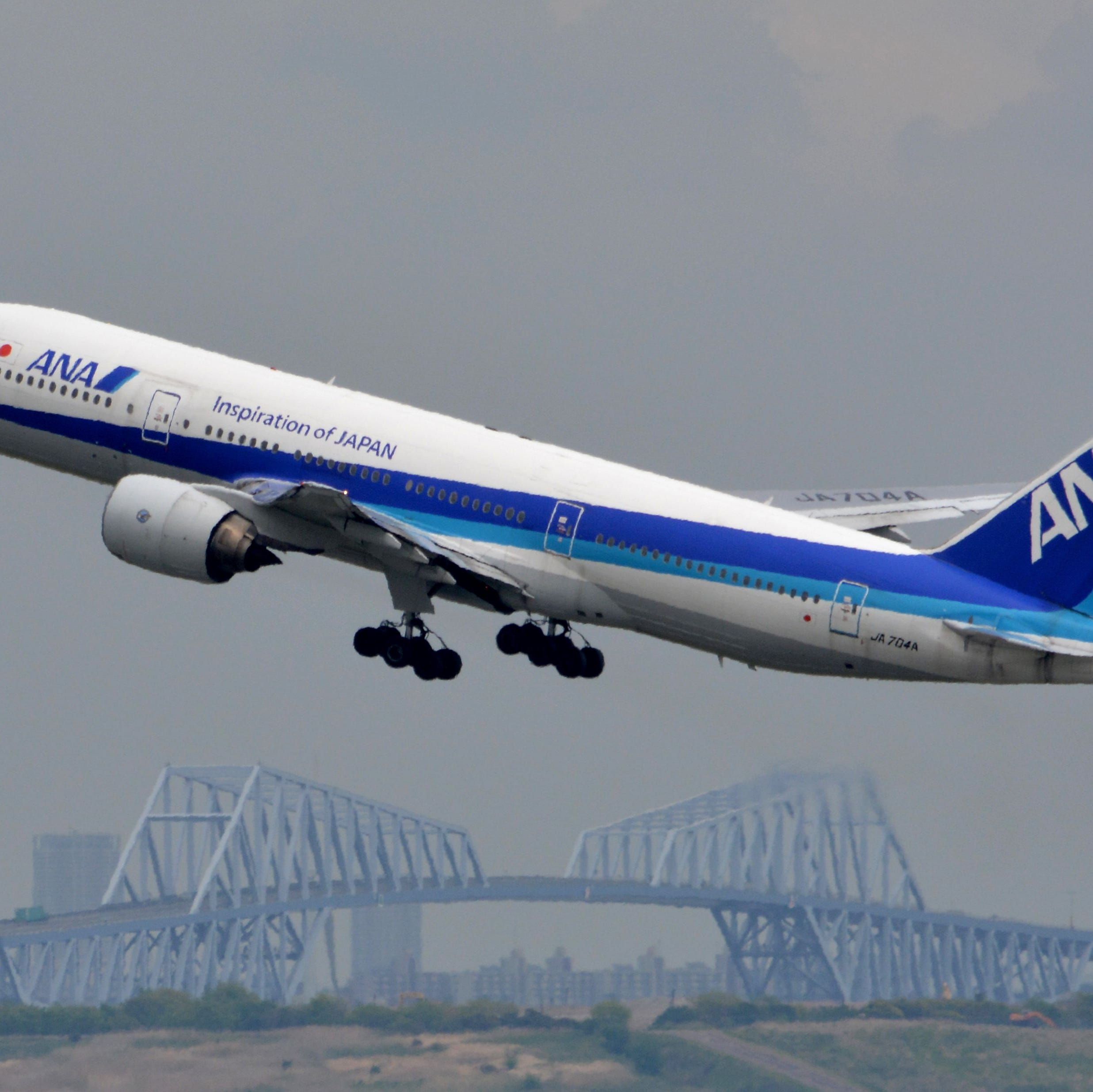 (FILES) This file photo taken on April 30, 2015 shows an All Nippon Airways (ANA) plane taking off at Tokyo's Haneda airport.