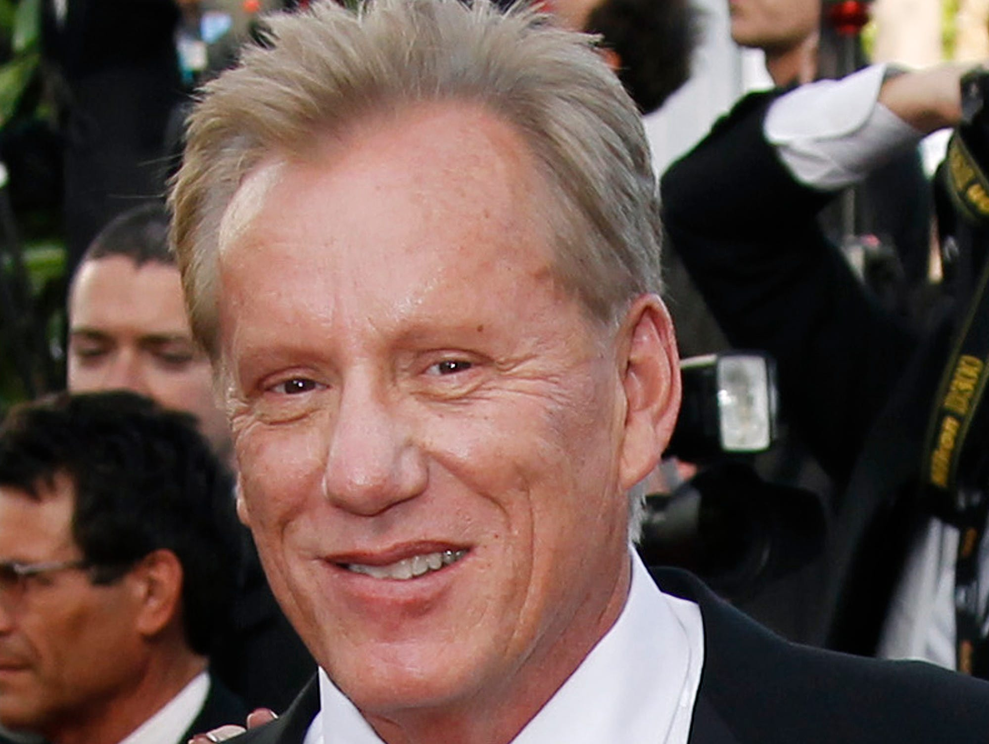 FILE - In this May 18, 2012 file photo, actor James Woods arrives for the screening of Once Upon a Time in America at the 65th international film festival, in Cannes, southern France. Woods said he is retiring from the entertainment industry. The news was included in a press release issued Friday, Oct. 6, 2017, by Woods' real estate agent offering Woods' Rhode Island lake house for sale.