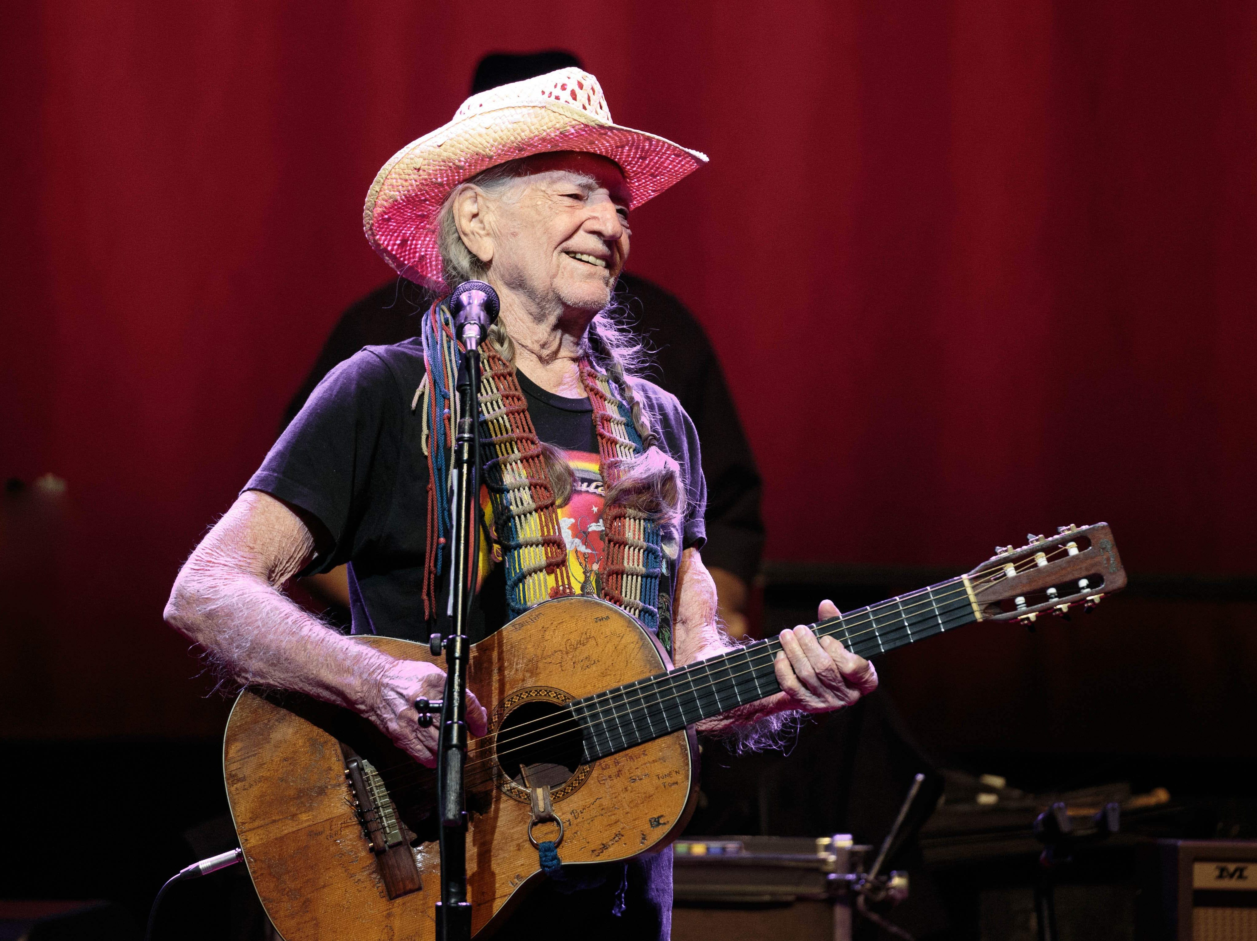 """US musician Willie Nelson performs during the """"Willie Nelson & Family New Year"""" concert at Austin City Limits Live on December 30, 2018 in Austin, Texas. (Photo by SUZANNE CORDEIRO / AFP)SUZANNE CORDEIRO/AFP/Getty Images ORIG FILE ID: AFP_1BW5KH"""