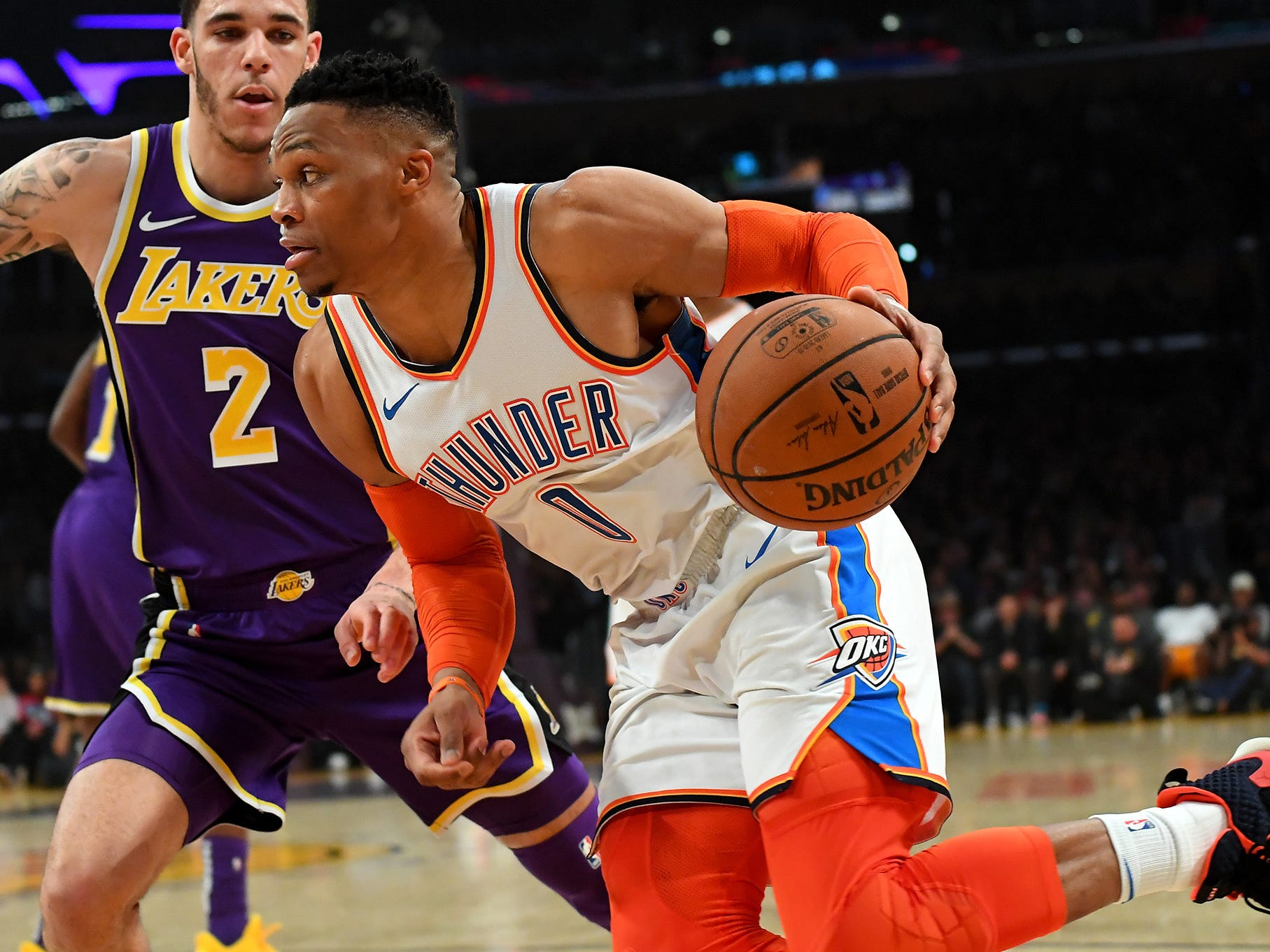 41. Russell Westbrook, Thunder (Jan. 2): 14 points, 16 rebounds, 10 assist in 107-100 win over Lakers (11th of season).