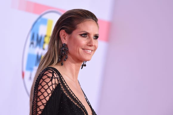 Heidi Klum at the 2018 American Music Awards on Oct. 9.