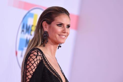 Heidi Klum at the 2018 American Music Awards on Oct. 9.