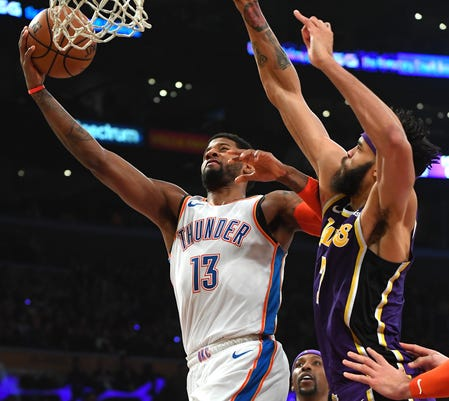 f7f481c658d Los Angeles Lakers fans prove Paul George right to stick with Thunder