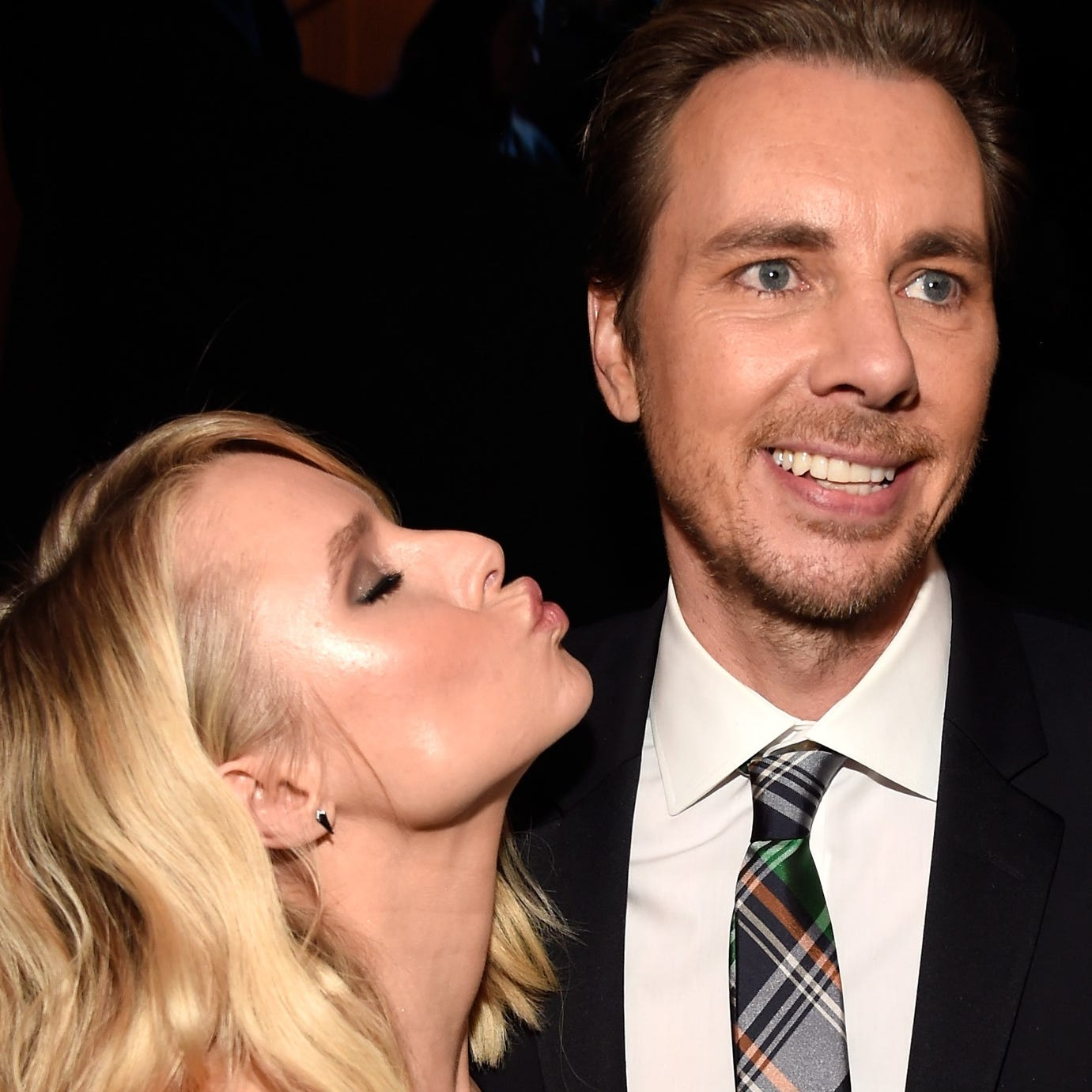 Kristen Bell and Dax Shepard being adorable, as they are.