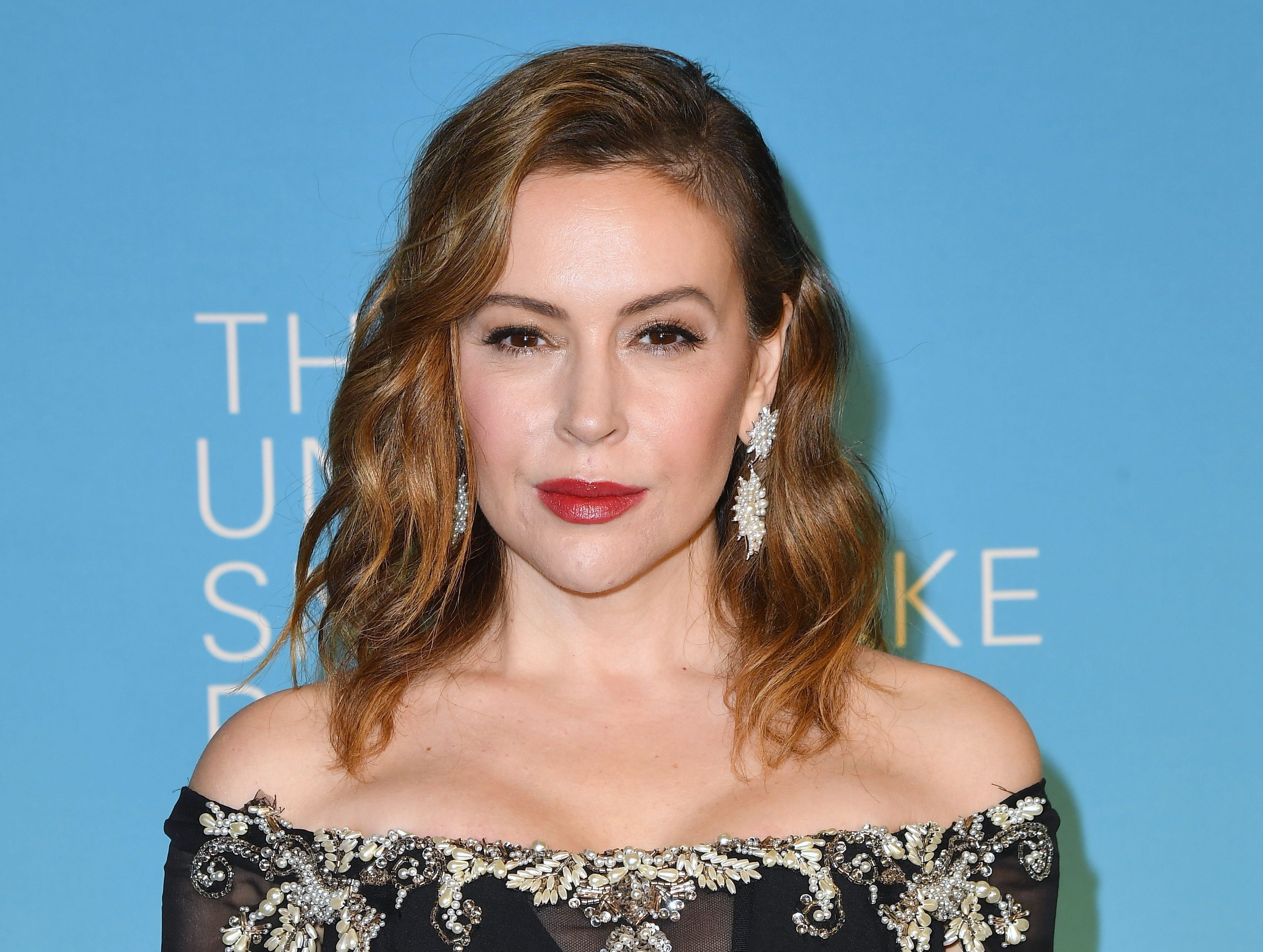 Actress Alyssa Milano attends the 14th Annual UNICEF Snowflake Ball on November 27, 2018 in New York City. (Photo by Angela Weiss / AFP)ANGELA WEISS/AFP/Getty Images ORIG FILE ID: AFP_1B59GF
