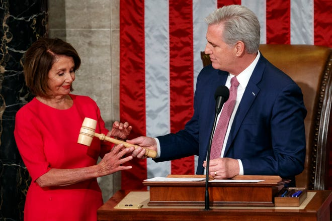 Nancy Pelosi is elected House speaker as divided government begins