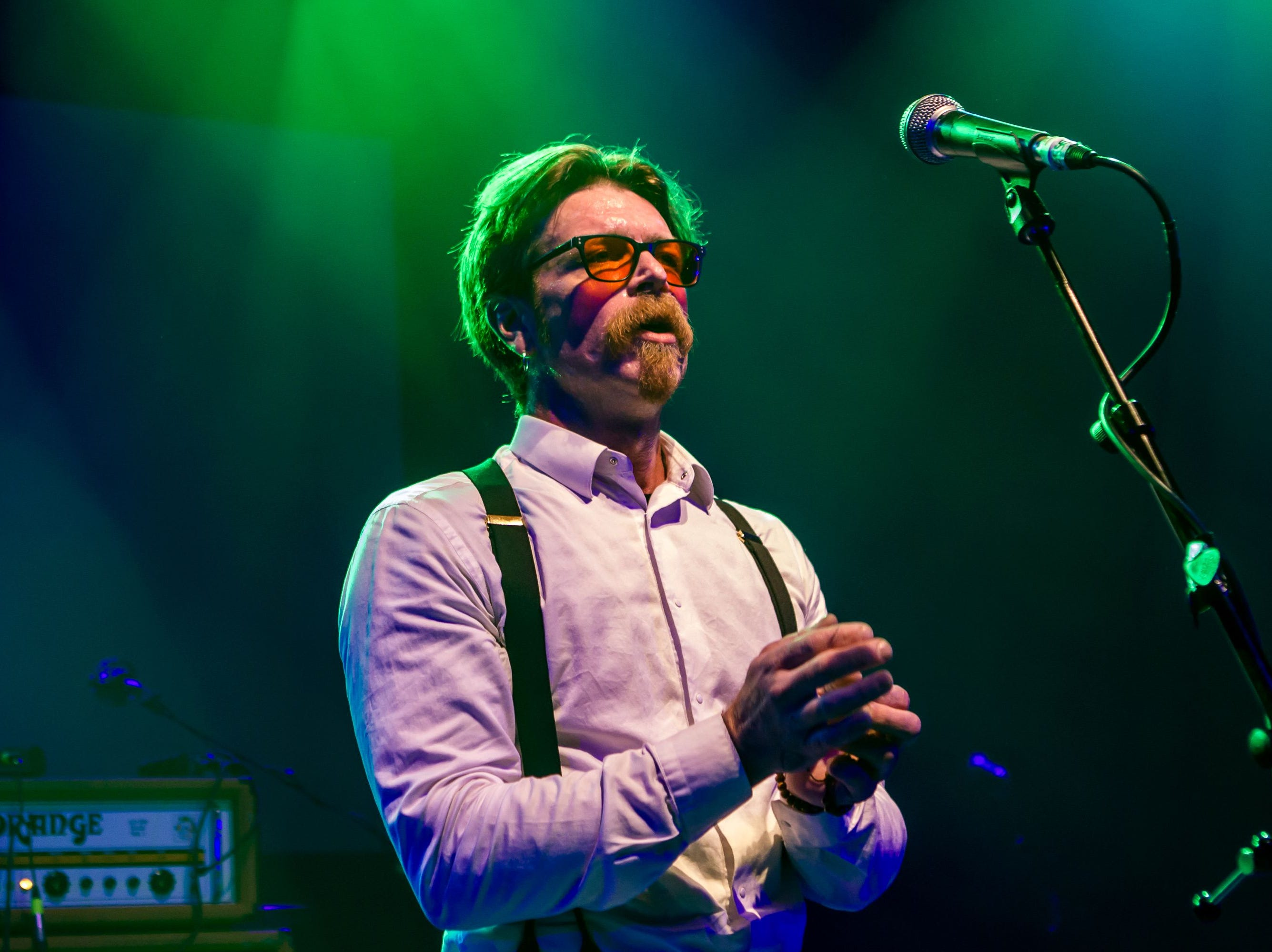 """A handout picture released by the tribute concert 'A Peaceful Noise' on November 16, 2016 shows Eagles of Death Metal frontman Jesse Hughes performing during a tribute concert 'A Peaceful Noise' in London on November 15, 2016 held for Nick Alexander, one of the victims of the November 2015 terror attack on the Bataclan theatre in Paris.   Eagles of Death Metal frontman Jesse Hughes on November 15 made a surprise performance at a London tribute concert to his """"dear friend"""" Nick Alexander, the roadie killed in last year's Paris attacks. / AFP PHOTO / A PEACEFUL NOISE TRIBUTE CONCERT AND AFP PHOTO / Victor Frankowski / RESTRICTED TO EDITORIAL USE - MANDATORY CREDIT  """" AFP PHOTO / A PEACEFUL NOISE / VICTOR FRANKOWSKI """"  -  NO MARKETING NO ADVERTISING CAMPAIGNS   -   DISTRIBUTED AS A SERVICE TO CLIENTS VICTOR FRANKOWSKI/AFP/Getty Images ORIG FILE ID: AFP_I5323"""