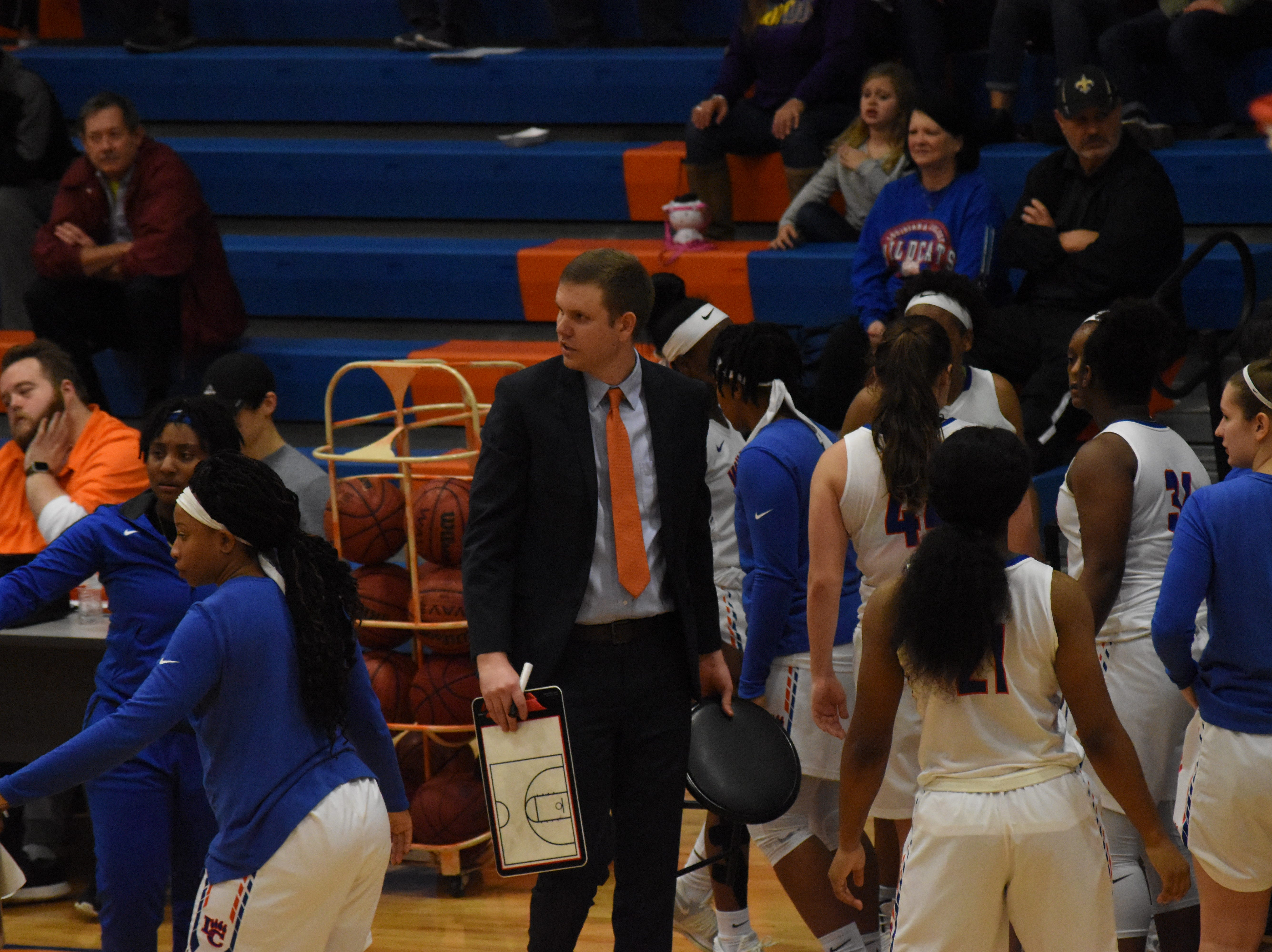 The Lady Wildcats of Louisiana College play the Lady Tornadoes of Concordia University Thursday, Jan. 3, 2019 at H.O. West Fieldhouse on the LC campus in Pineville. Concordia won 72-70.