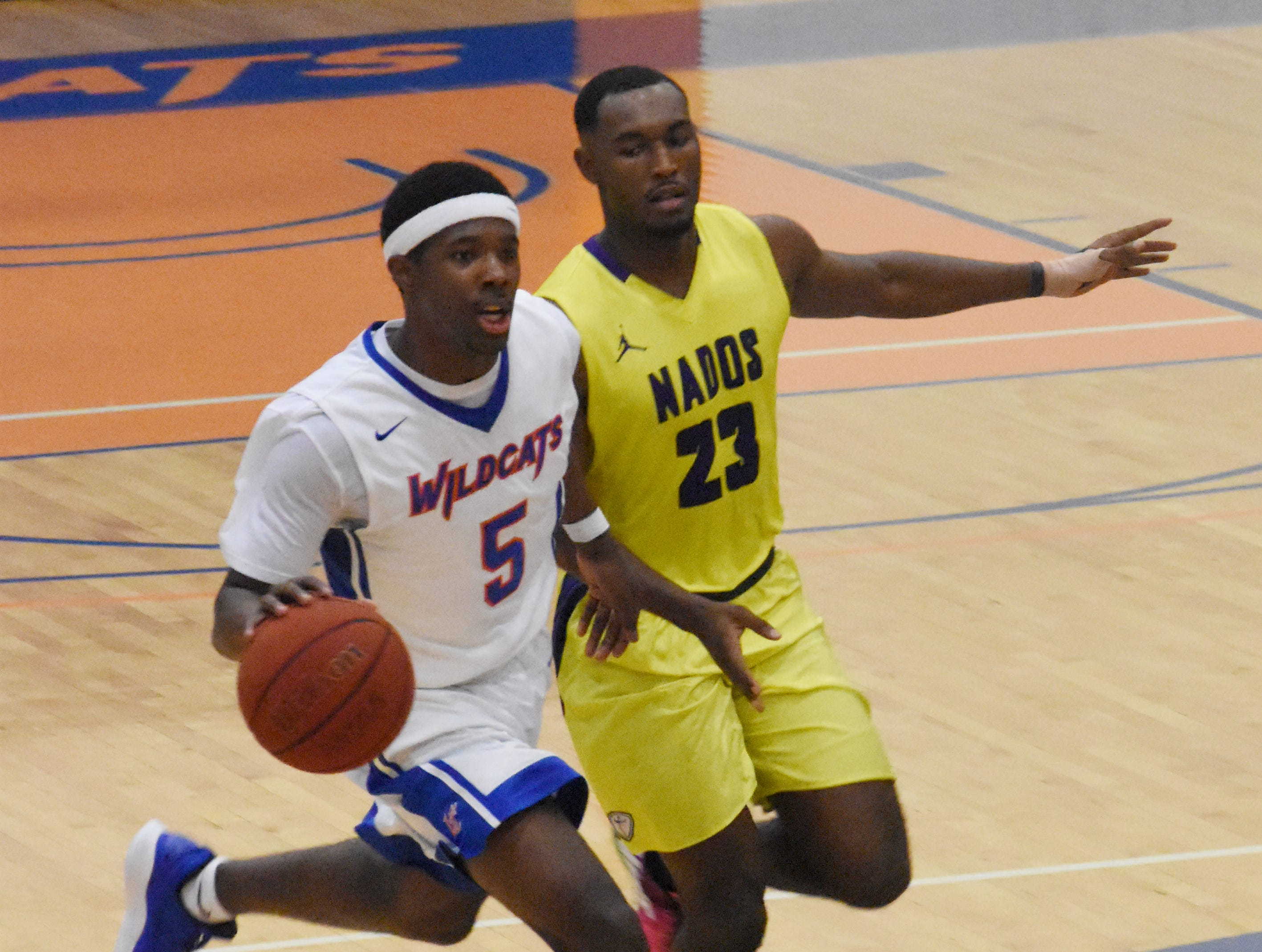 The Wildcats of Louisiana College play the Tornadoes of Concordia University Thursday, Jan. 3, 2019 at H.O. West Fieldhouse on the LC campus in Pineville. Concordia won 65-53.