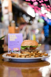 The Impossible Burger is a substitution available at Mojo Kitchen and Lounge downtown. The patty is made with wheat and potato protein, heme for flavor and coconut oil for fat to mirror a burger made from meat.