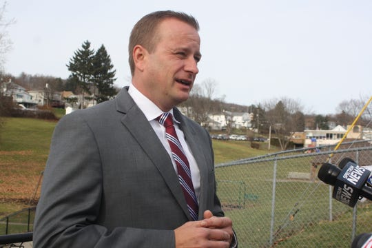 Friday morning, Broome County District Attorney Steve Cornwell discussed why he is not seeking re-election during a press conference conference at George F. Johnson Park in Endicott Friday morning.