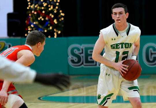 Seton Catholic Central varsity basketball hosts Chenango Valley in Binghamton on Thursday, January 3, 2018.
