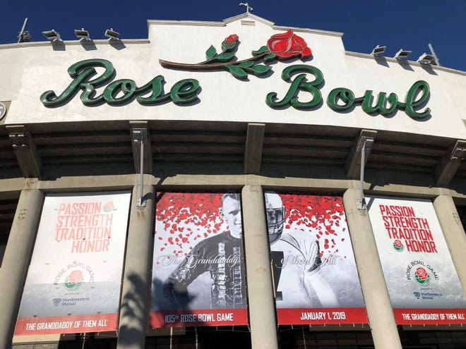 The Rose Bowl on Jan. 1, before the Huskies took on the Ohio State Buckeyes.