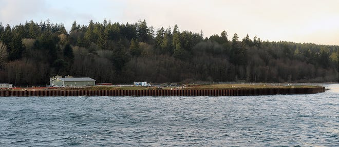 Bainbridge Island Wyckoff Creosote Plant is seen in this January photo.