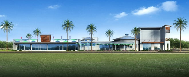 This artist's rendering depicts the future Djon's Village Market at the former City Tropics Bistro building in Indialantic.