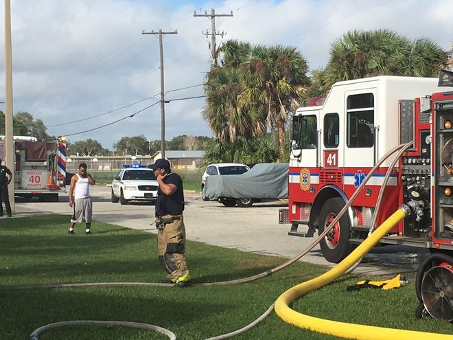 Brevard County Fire Rescue units respond to apartment fire in Merritt Island.