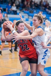Lucas' Jessie Grover was named the 2019 Co-Mansfield News Journal Girls Basketball Player of the Year.
