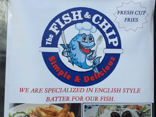 The Fish & Chip will serve its namesake dish as well as items such as souvlaki and chicken tenders.