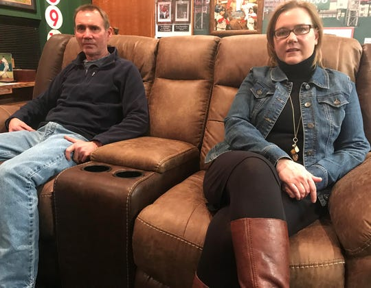 Rob and Alyssa Black talk about gun waiting periods after the death of their son, Andrew. Jan. 2, 2019.