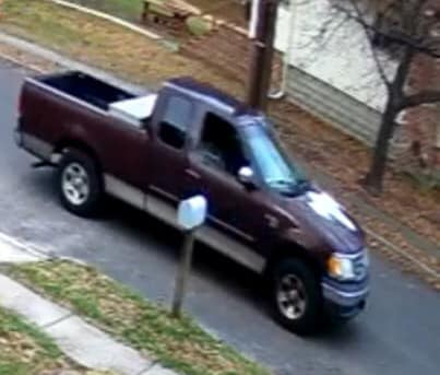 Gloucester Township police are looking for this truck following a report of a man exposing himself to an elderly woman on Thursday.