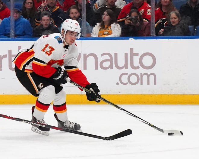 Johnny Gaudreau has a whopping 41 points in his last 22 games, 12 points in eight career games against the Flyers, the team he grew up rooting for, and is the NHL's second star of the month.