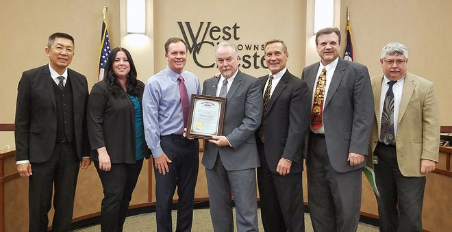 West Chester was honored again by the state for financial reporting.