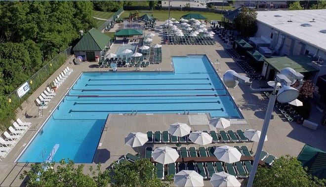 Existing outdoor pool layout at the Cincinnati Sports Club.