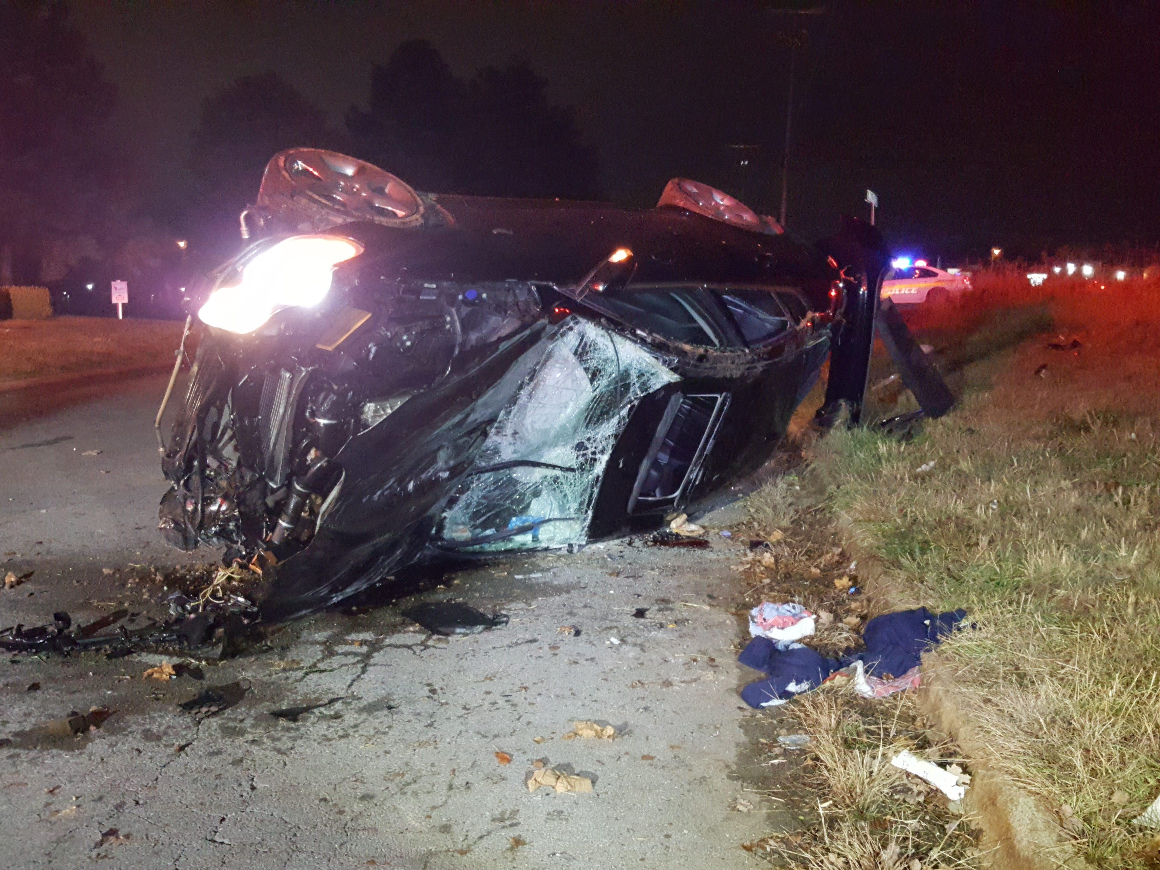 Antorius Gallion's wrecked Jaguar
