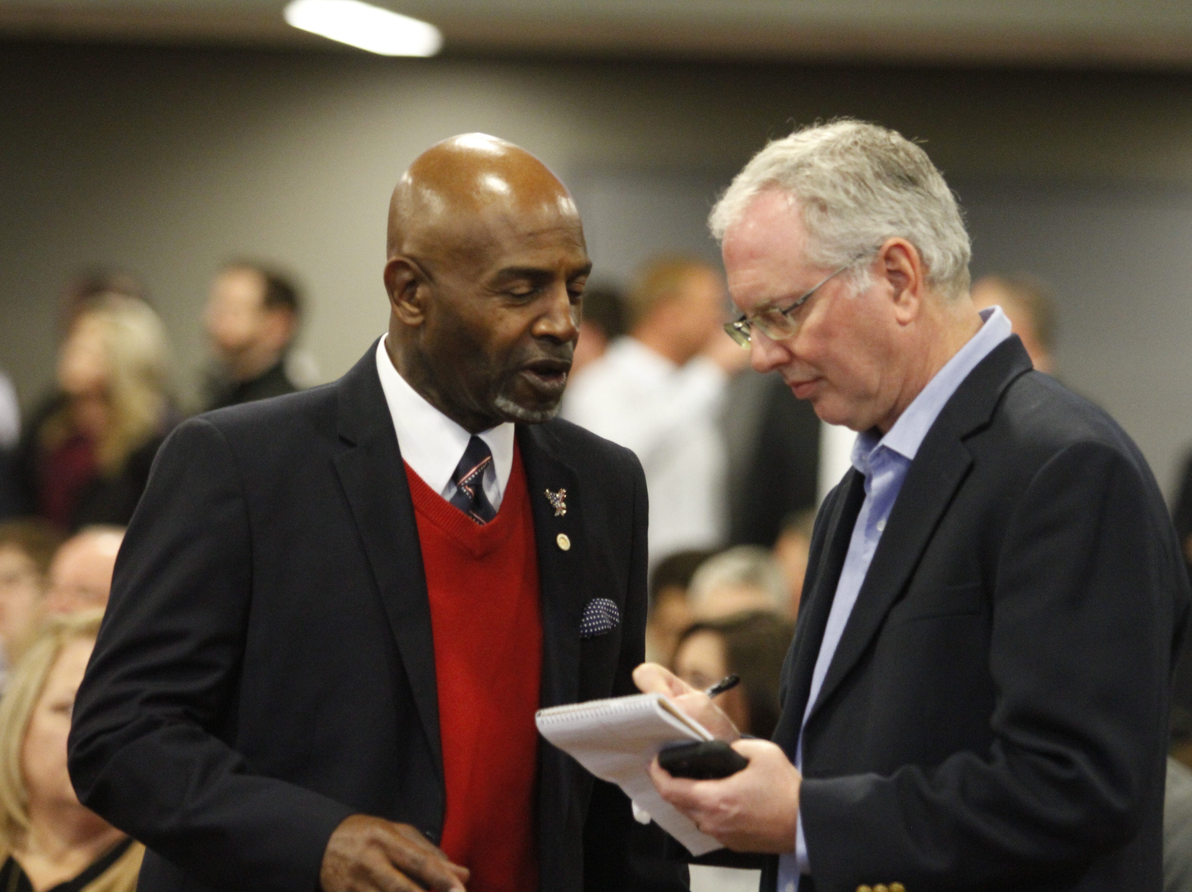 The official swearing-in ceremony for Clarksville Mayor Joe Pitts and the City Council was held Wednesday afternoon, Jan. 2, 2019, at the Wilma Rudolph Event Center.