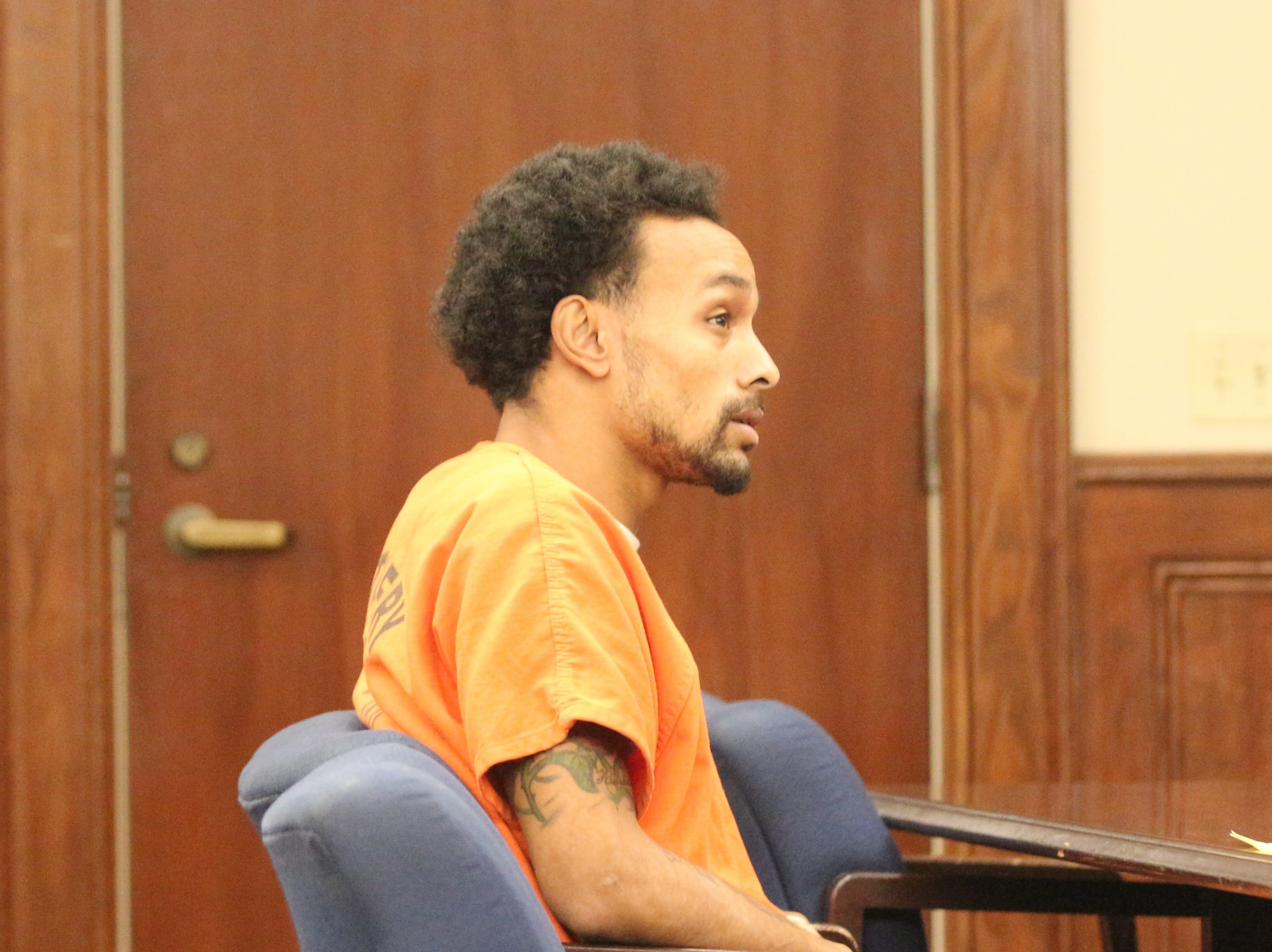 Vincent Bryan Merriweather at preliminary hearing charged with homicide in the shooting death of Antorius Gallion