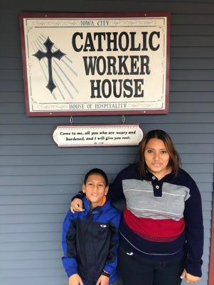 Safe in the Iowa City Catholic Worker House, Honduran Jackie Torres-Toro and her son Isaac are seeking asylum