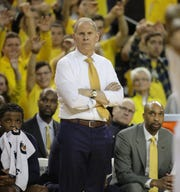 Michigan head coach John Beilein on the bench during second half action against Penn State Thursday, January 3, 2019 at the Crisler Center in Ann Arbor, Mich.