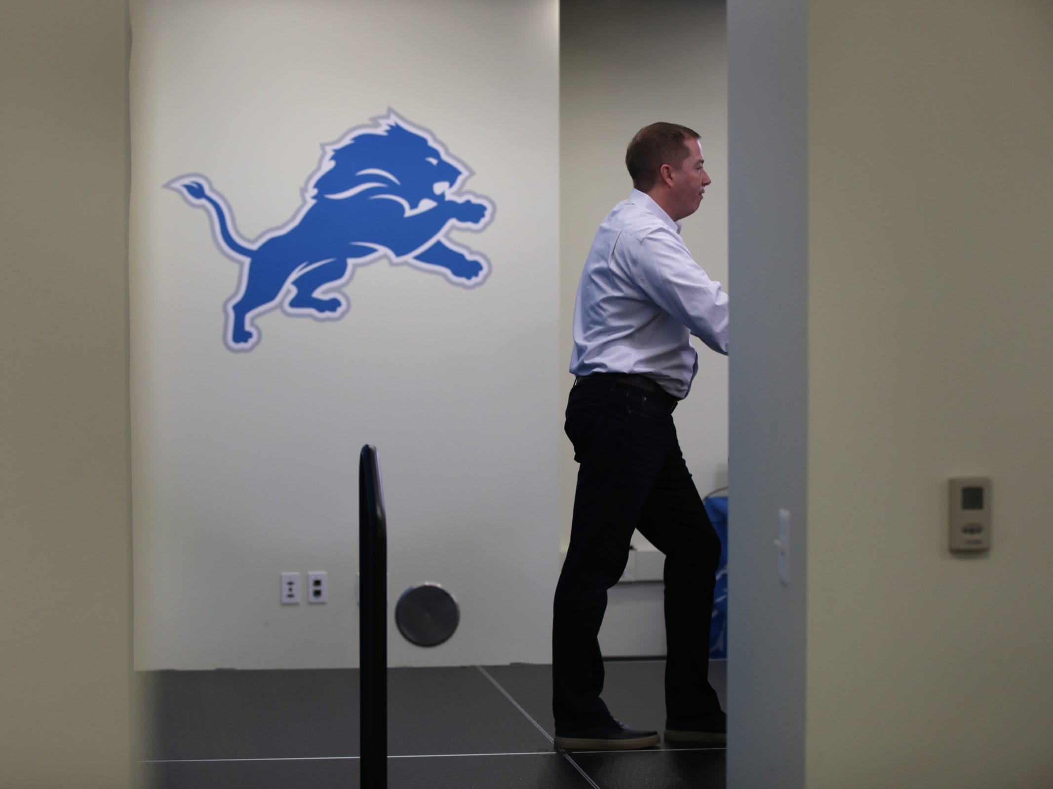 Detroit Lions general manager Bob Quinn at the practice facility in Allen Park on Friday, Jan. 4, 2019.