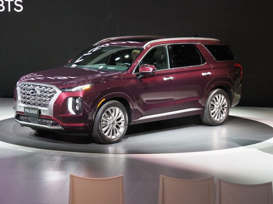 Hyundai Palisade: New for 2020, the big SUV is bigger in every dimension than the outgoing Santa Fe XL and a lot more lavishly equipped, with a 10.25-inch touchscreen, countless cupholders and USB ports and lots of new safety features. Its 3.8-liter V-6, meanwhile, lets the Hyundai Palisade tow up to 5,000 pounds.
