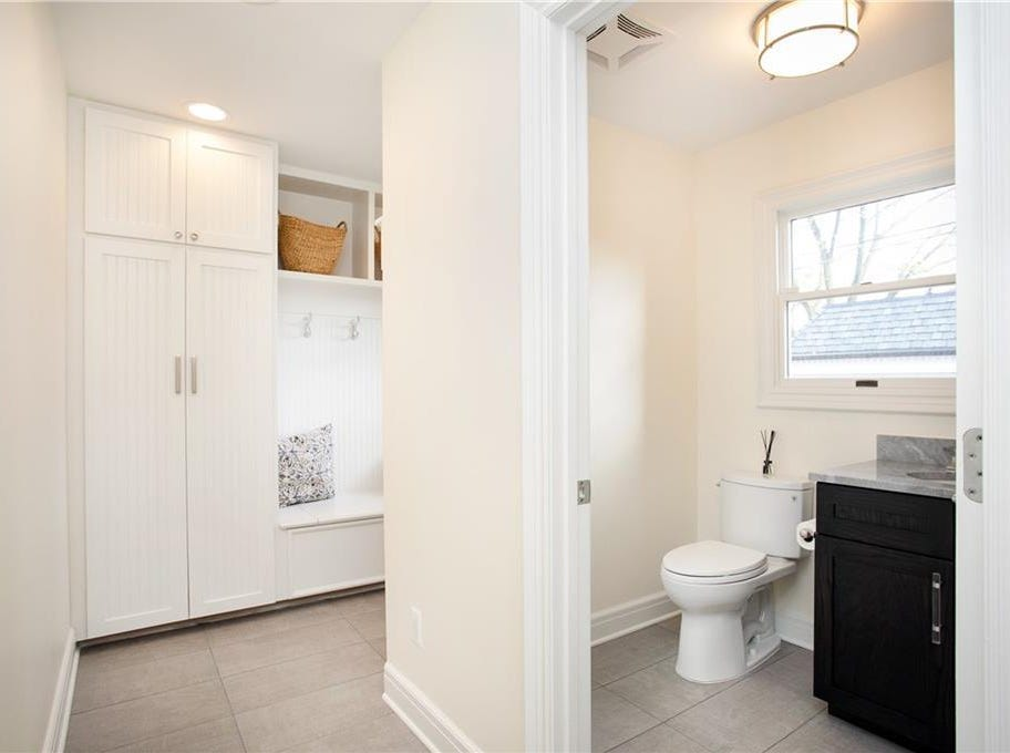 The finished basement features a full bathroom and service stairs to the attached garage, which is heated and has room for two cars, also rare for the area, Cristbrook said.