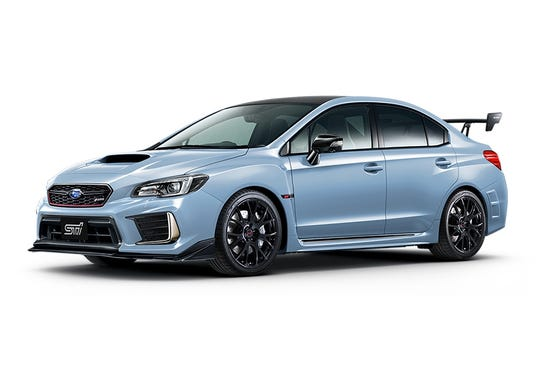 "Past ""S"" models  of the WRX STI were earmarked solely for the Japanese market. Based on the previous WRX STI S208,  pictured here, it wouldn't be surprising to see the current, 310-horsepower hatchback get a boost to somewhere north of 325 hp."