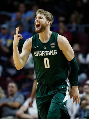 Kyle Ahrens is set to start his sixth game of the season for Michigan State on Saturday.