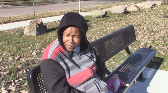 Rita Chapman, 44, says she doesn't feel safer in her Detroit neighborhood, despite what newly released crime statistics say.