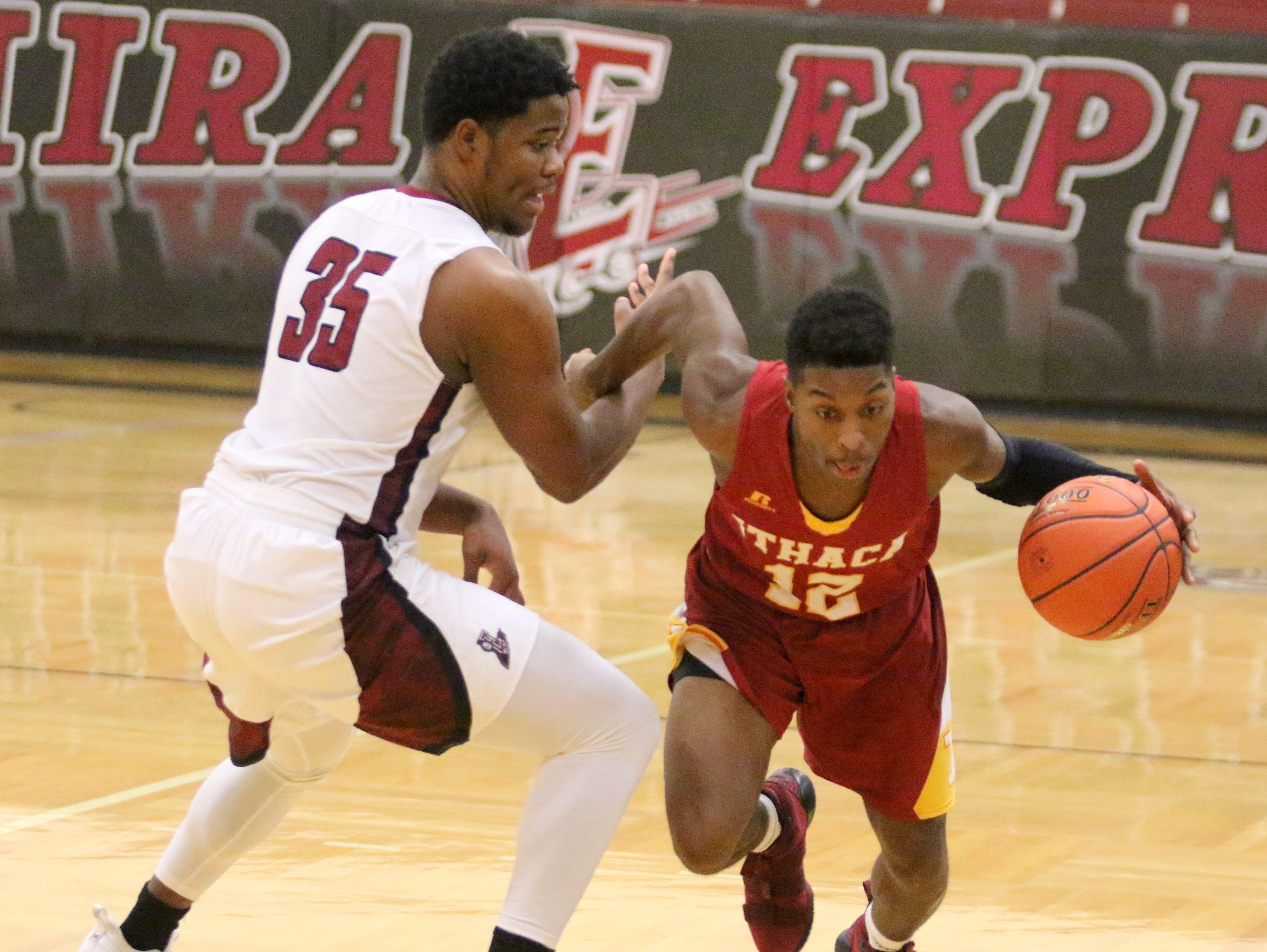 Ithaca was a 46-44 winner over Elmira in boys basketball Jan. 3, 2019 at Elmira High School.