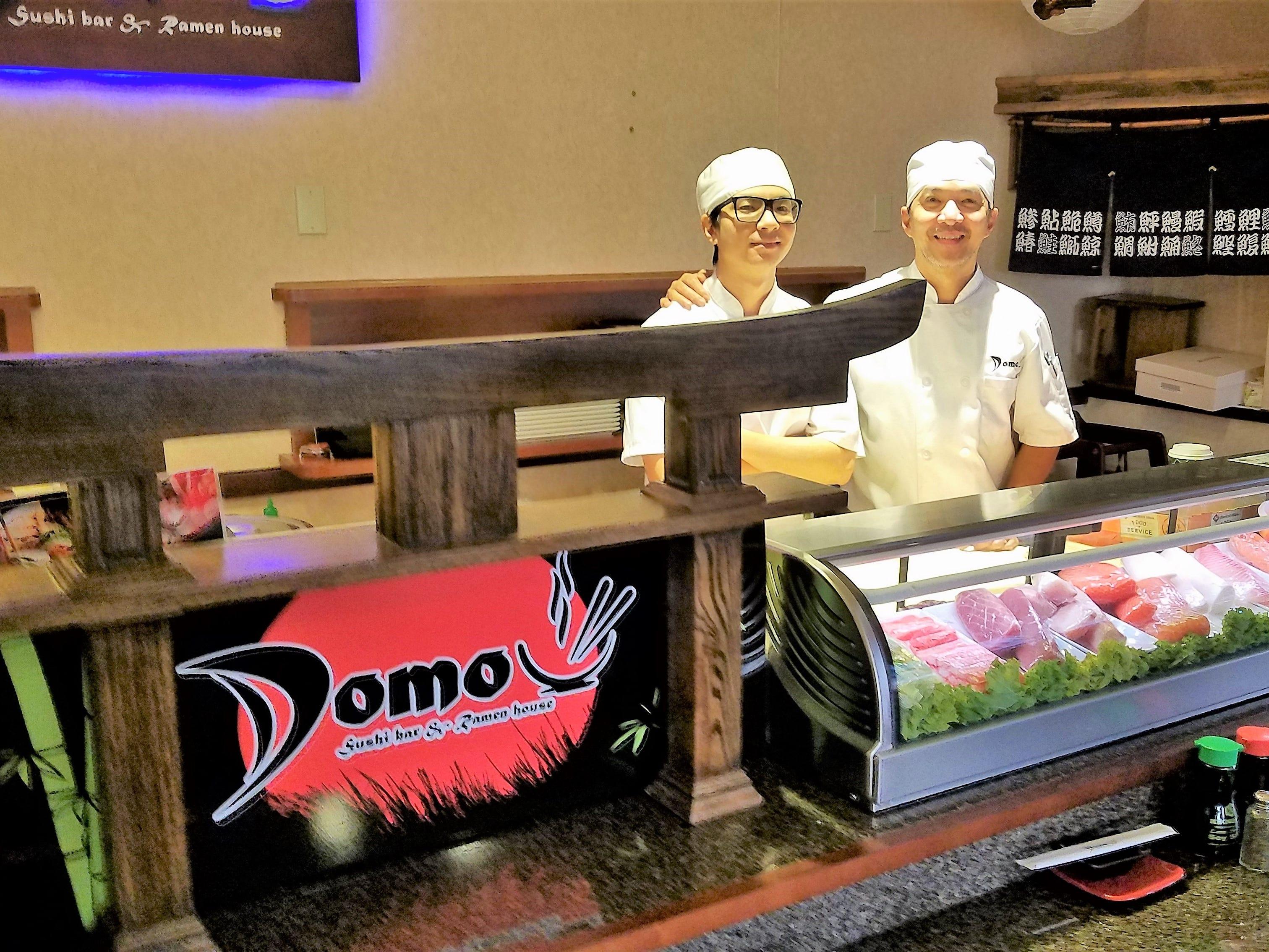 Domo executive chef Marvin Abadicio, right, with his son and sous chef Martin Abadicio.