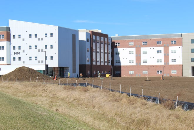 Work is almost completed on the Landings at Terra Village, as students prepare to start classes next week at Terra State Community College. University Housing Solutions is the developer for the project.