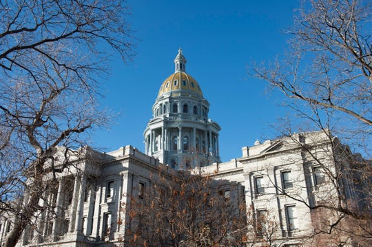 The Colorado State Capitol dome stands tall as the 72nd General Assembly convenes on Friday, January 4, 2019.