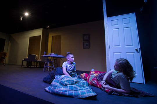 "Joshua Slover, left, and Mitchell Goerke rehearse a scene from the upcoming play ""Marvin's Room"" at the new Phoenix Theater in Fort Myers Thursday, January 3, 2019. Southwest FloridaÕs newest theater, is scheduled to open January 10."