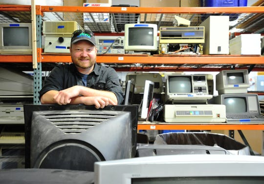 Matt Elsaesser, owner of 406 Recycling, provides an e-waste recycling service based in Montana City.