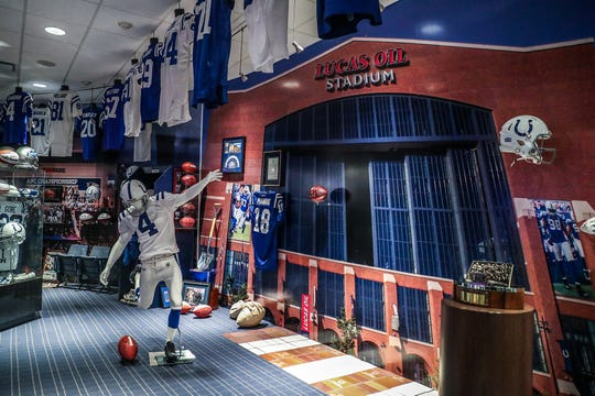 A look inside the memorabilia room at the Colts Complex.