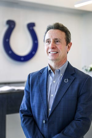 Larry Hall, the Vice President of Special Projects and Historical Affairs for the Indianapolis Colts, poses for a portrait in the lobby of the Colts Complex in Indianapolis, Friday, Jan. 3, 2019.
