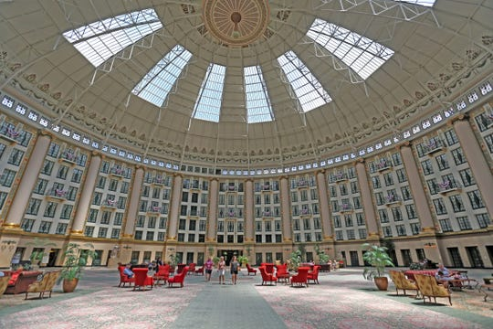 "The atrium of the West Baden Springs Hotel is known as the ""Eighth Wonder of the World."""