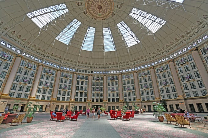 """The atrium of the West Baden Springs Hotel is known as the """"Eighth Wonder of the World."""""""